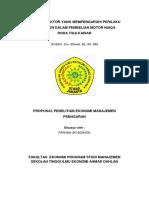 Proposal Skripsi Manajemen Pemasaran