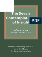 The Seven Contemplations of Insight
