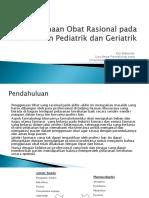 Penggunaan Obat Rasional Pada Pasien Pediatrik Dan Geriatrik