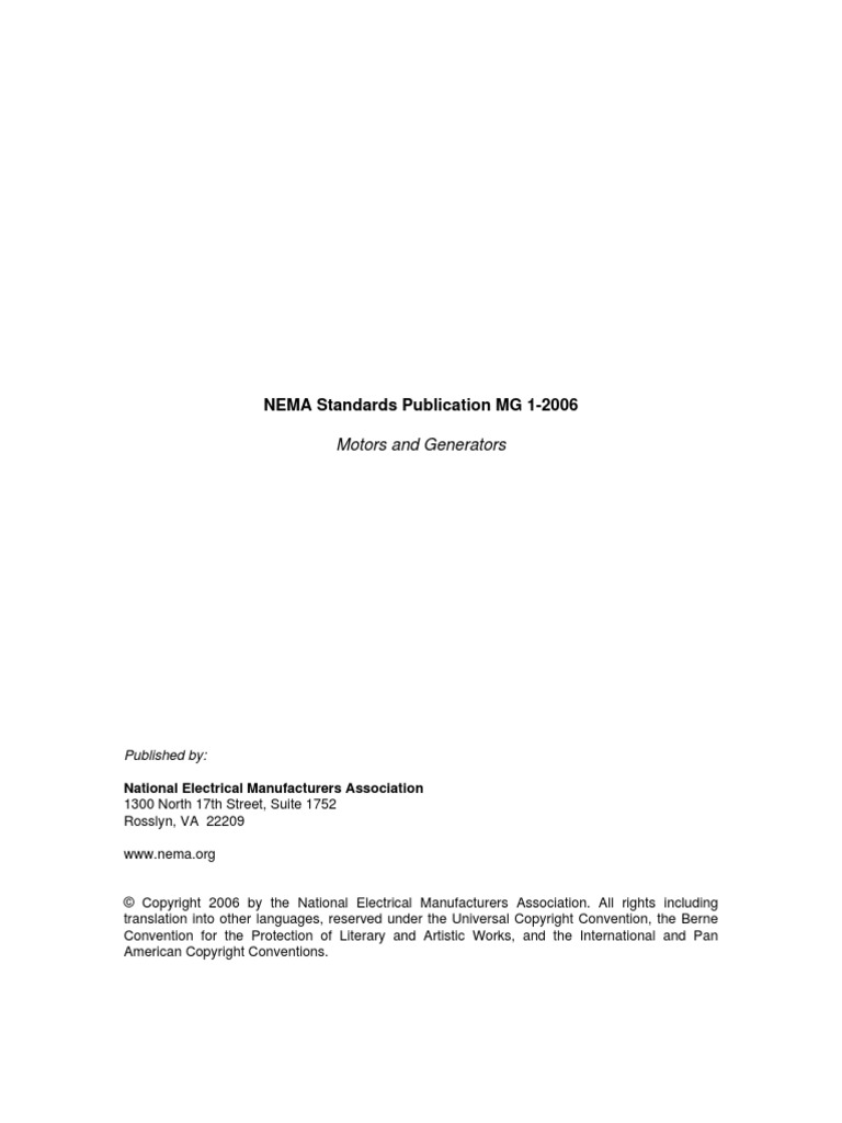 NEMA MG1 2006 Motors and Generators | Electric Generator ... B Wiring Diagram Emerson on