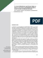 Hacia Una Estrategia Nacional. INTERNACIONAL