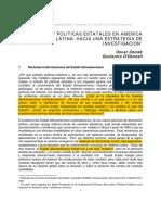 Oszlak y O Donnell - Estado y Politicas Estatales