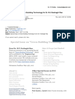 Special Issue on Green Building Technology for Dr. M.V