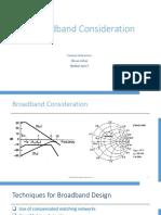 Broadband Consideration