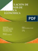 Formulación de Objetivos de Política Económica