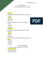 I Examen de Taller de Investigacion I x