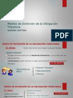 DERECHO TRIBUTARIO I (CÓDIGO TRIBUTARIO) -Semana 7 Medios de Extinción de la Obligación Tributaria(2) (1)