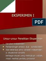 Kuantitatif Eksperimen I