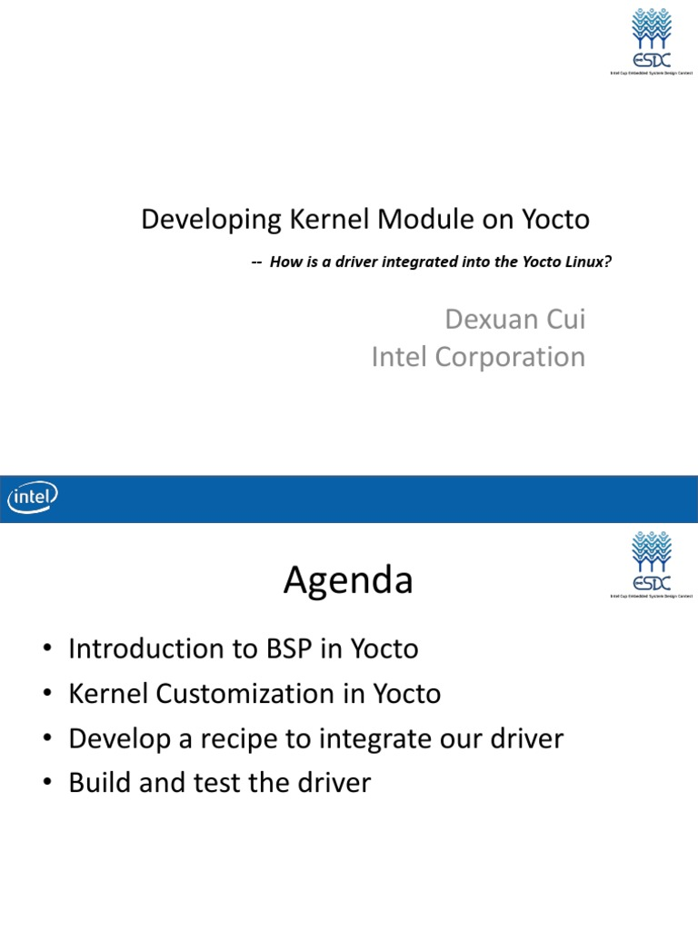 42868-11 Developing Kernel Module on Yocto | Device Driver