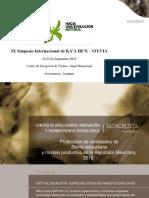 02 Marcela Benitez - Producción de Variedades de Stevia Rebaudiana en Rep. Mexicana y Modelo Productivo