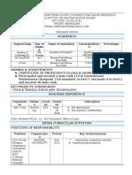 CDC Resume Format