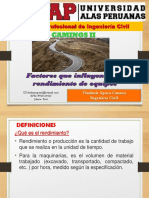 03 UAP EXPOSICION Factores de Rendimiento en Maquinarias