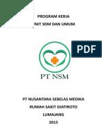 #1-2 PROGRAM KERJA UNIT SDM DAN UMUM .doc