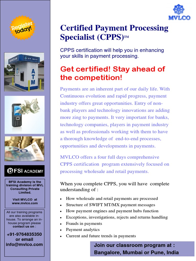 Certified Payment Processing Specialist Payments Analytics