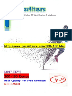 New Pass4itsure Cisco 300-180 Dumps PDF - DCIT Troubleshooting Cisco Data Center Infrastructure (DCIT)