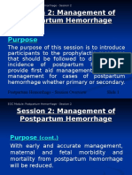 Postpartum Hemorrhage Session 2