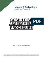 COSHH Risk Assessment Procedure
