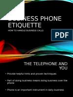Business Phone EtiquetteMIS-OJT