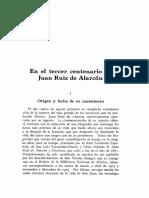 [Revista Iberoamericana, 1939 May, Vol 1, No 1] - El Tercer Centenario de Juan Ruiz de Alarcon (JIMENEZ, p 121-135)