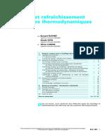 Chauffage Et Rafraîchissement Par Systèmes Thermodynamiques