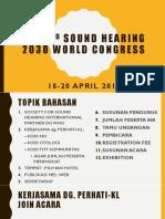 The 2nd Sound Hearing 2030 World Congress