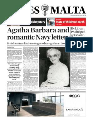 Agatha Barbara Times of Malta   Organ Transplantation   Malta