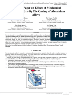 A Review Paper on Effects of Mechanical Vibration on Gravity Die Casting of Aluminium Alloys