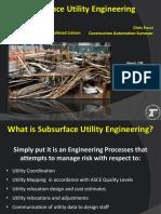 Subsurface Utility Engineering