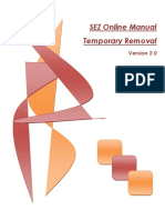 Temporary Removal Manual Version 2.0