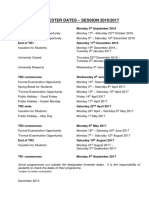 Academic Trimester Dates 2016-2017