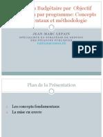 Lagestionbudgtaireparprogramme Conceptsetmthodologie 120305022450 Phpapp02