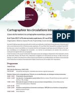 Cartographier Les Circulations Internationales PROGRAMME