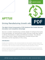 Driving Manufacturing Growth With CPQ