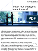 Can You Monitor Your Employees' Communications?