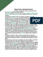 Los Consensos Mundiales Para La Reforma Educativa