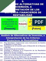 ANÁLISIS DE ALTERNATIVAS DE INVERSIÓN, E INTERPRETACIÓN DE LOS CRITERIOS FINANCIEROS DE RENTABILIDAD.ppt