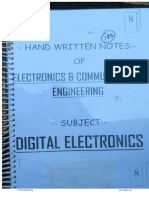 Digital Electronics and STLD notes (Handwritten)