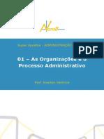 AdmPub 01 as Organizacoes e o Processo Administrativo