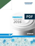 Lista Preturi FONOIZOLATII 1feb 2016