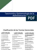 Taxonomía y Epistemología de La Administración
