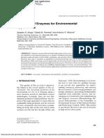 Untilization of Enzyme for Envirinmental