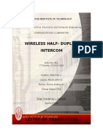 wireless half duplex intercom proposal
