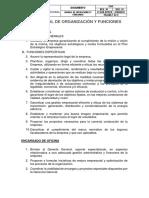 Manual de Organización y Funciones METALICA MENDOZA