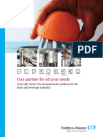 Measurement Solutions Food and Beverage
