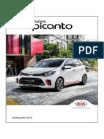 Listino Prezzi Kia Picanto 2017