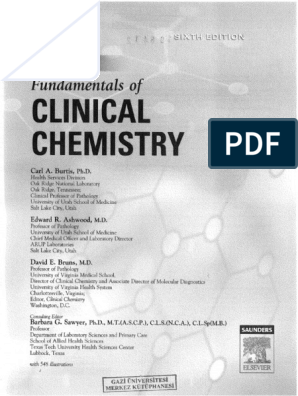 TIETZ Fundamentals of Clinical Chemistry pdf
