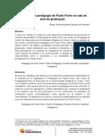 Traços da pedagogia de Paulo Freire na sala de aula da graduação