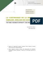 Revista - La continuidad en la empresa familiar. Análisis de casos 2012.pdf