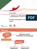Aula2 a Lingua Seu Signos e a Gramatica