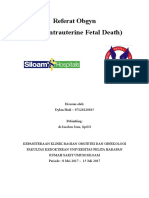 Referat IUFD (Kematian Janin) Stase Obgyn Dylan